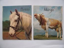 LIVRES Enfants (2) Même Série: HENNI (Cheval) Et MARGO (Vache) - Années 60 - Editions WILLEB - Vieux Papiers