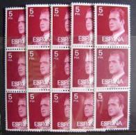ESPAÑA - LOTE DE 5 TRIPTICOS DEL REY DEL 5 PTS - NUEVOS ** SIN CHARNELA - 1931-Hoy: 2ª República - ... Juan Carlos I