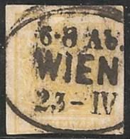 AUSTRIA 1850 - Yvert #1 - VFU - Usados