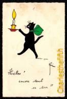 VIEILLE CPA - CHAT - CAT - GATTO - KATZE - KAT - BOUGIE - ILLUSTATEUR RENE - édit Chats René Nr 10 - Chats