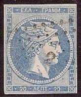 GRECIA 1861/62 - Yvert #14 - VFU - 1861-86 Gran Hermes