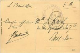F-13  : 869  : Carte Postale Avec Cachet Hôpital Militaire Mayence Sur Carte Postale De Bonn A.Rh. - Allemagne