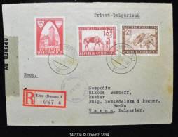 14200 AUSTRIA-PREIS Nach BULGARIEN Recommandé US Censure De Linz (Donau)  Vers Varna (Bulgarie) 03/12/1946 - 1945-.... 2ème République
