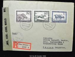 14212 AUSTRIA-PREIS Nach BULGARIEN Recommandé De Linz Donau Vers Varna (Bulgarie), Censure Américaine 03/12/1946 - 1945-.... 2ème République