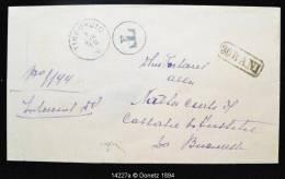 """14227 TIRGU-JIU à Bucarest, """"t"""" En Cercle, Et Cachet """"30 Bani"""", 01/05/1878 - 1858-1880 Moldavie & Principauté"""