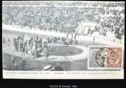 14232 OLYMPIC CARTE MAXIMUM Le Stade, Lutte, PEIRAIEYZ 4,  05/1906 - 1906 Deuxième Jeux Olympiques