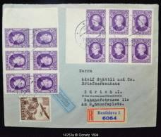 14253 Recommandé Par Avion De Bratislava à Zurich, Bloc De 6 Hlinka N.D. 14/10/1940 - Lettres & Documents