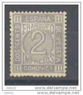 ES116-L3381TSC.España .Spain.ESCUDO DE ESPAÑA. .Espagne. AMADEO L. 1872  (Ed  116*) Con Charnela.MAGNIFICO - Sin Clasificación