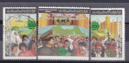 Stamps LIBYA 1987 SC 1329 A-c GADDAFI DECLARATION PEOPLE AUT VF USED #20 */* - Libyen