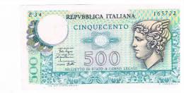 BILLET DE BANQUE 500 LIRE ITALIE - [ 2] 1946-… : Républic