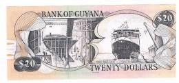 BILLET DE BANQUE 20 DOLLARS GUYANA - Guyana