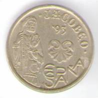 SPAGNA 5 PESETAS 1993 - [ 5] 1949-… : Regno