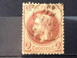 FRANCE YT 26A. Napoléon III Lauré. Oblitéré. Oblitération PARIS. 1862. Côte 45.00€ - 1862 Napoleon III