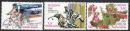 Bangladesh 1984 - Olympic Games, Los Angeles SG241-243 MNH Cat £7 SG2015 - Bangladesh