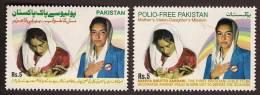 2009 Pakistan National Polio Day, Benazir Bhutto & Asifa Zerdari, Health 2v MNH - Pakistan