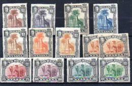 Nyassa 1901, Girafe, Dromadaire, 27 / 39*, Cote 27 €, - Nyassaland