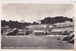 GENOVA QUARTO   - STABILIMENTO BALNEARE 5 MAGGIO S.P.A.  RETRO PUBBLICITARIO  AUTENTICA 100% - Genova (Genoa)