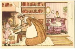 Illustration  Illustrateur  EB Femmes Faisant Du Canevas Et De La Patisserie  Gouter  /14096 - Illustratori & Fotografie