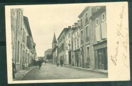 Brioux-sur-Boutonne - La Grande Rue  ( Cpa Légende Manuscrite )- Bcl62 - Brioux Sur Boutonne