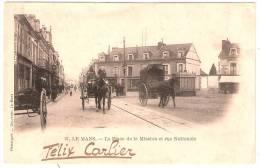 LE MANS La Place De La Mission Et Rue Nationale Beaux Attelages (Bouveret) Sarthe (72) - Le Mans