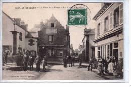 """29 ,Finistère ;  Le Conquet ; """" La Place De La Pompe """"1908, Animé , état : Bien,,,,,2  Scans .. - Le Conquet"""