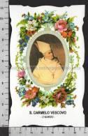 XsaCal62 S. San CARMELO VESCOVO GIROLAMO CARMELO DI SAVOIA TERUEL BARCELLONA Santino Holy Card - Religion & Esotericism