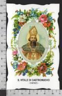 XsaCal69 S. San VITALE DI CASTRONUOVO RAPOLLA TORRI Santino Holy Card - Religion & Esotericism