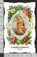 XsaCal119 S. Santa VALERIA DI RAVENNA MARTIRE MOGLIE DI VITALE Santino Holy Card - Religion & Esotericism