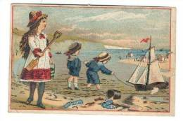 TC  L.G.Ayers, The Popular Grocer,Main Street, Somerville,New Jersey, 1890s   Kids On Beach - Advertising