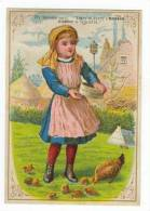 TC  Tracy & Avery's SARICA COFFEE, Girl Feeds Chickens, 1890s - Reclame
