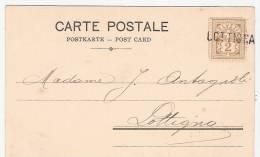 Griffe Noire LOTTIGNA  Sur  CPA  Affranchie  A 2c   SUPERBE - Postmark Collection