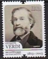DV 2176) Portugal MiNr 3809 **: 200 Geburtstag Guiseppe Verdi, Komponist - Musik
