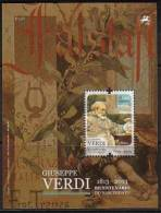 DV 2178) Portugal MiNr 3811 Block 341  **: 200 Geburtstag Guiseppe Verdi: Falstaff - Musik