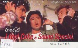 Télécarte Japon * COCA COLA  (1492) TELEFONKARTE * PHONECARD JAPAN *  COKE * - Reclame