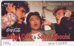 Télécarte Japon * COCA COLA  (1493) TELEFONKARTE * PHONECARD JAPAN *  COKE * - Werbung