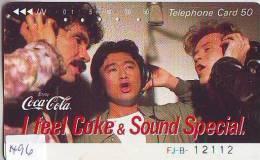 Télécarte Japon * COCA COLA  (1496) TELEFONKARTE * PHONECARD JAPAN *  COKE * - Advertising