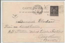 FRANCIA TP PARIS CON MAT EXPOSICION UNIVERSAL DE 1900 - 1900 – Paris (Frankreich)