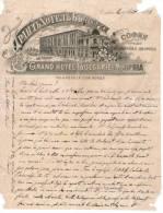 Grand Hotel BULGARIE A SOPHIA (Sofia). Lettera Su Carta Intestata. 1899 - Fatture & Documenti Commerciali
