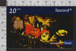 S2747 CARNIVAL FASTNACHT Taxcard Swisscom 10 CHF 2003 - Switzerland