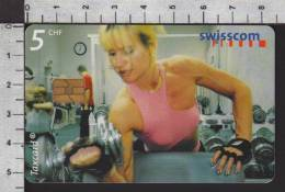 S2751 FITNESSCLUB BERN GYM Taxcard Swisscom 5 CHF 2000 - Svizzera
