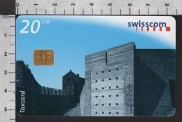 S2754 CASTELGRANDE BELLINZONA Taxcard Swisscom 20 CHF 1998 - Svizzera