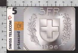 S2758 P-Taxcard Swisscom 5 CHF 1998 - Svizzera