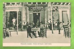 SIRACUSA PALAZZOLO ACREIDE PIAZZA DEL POPOLO CAFFE' SICILIA CARTOLINA FORMATO PICCOLO - Italy