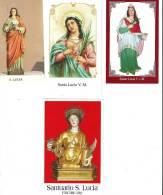 S. LUCIA V.M. - LOTTO 4 SANTINI - M - Religione & Esoterismo
