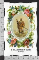 XsaCal167 S. San DULA MARTIRE IN CILICIA TARSO Santino Holy Card - Religione & Esoterismo