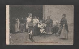 RARE Tarjeta Postal Postcard 1910s SPAIN ESPAÑA ZARAGOZA COSTUMBRES ARAGONESES BAILANDO LA JOTA - Zaragoza