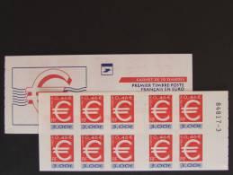 VARIETE Sur Carnet Luquet YT 3215-C1b -   ADHESIF SUR LA COUVERTURE AU LIEU DES TIMBRES - Usage Courant