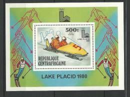 "Centrafrique Bloc YT 37 BF "" JO à Lake Placid "" 1979 Neuf** - Central African Republic"