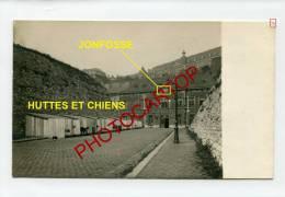 JONFOSSE-GARE-Station De CHIENS Militaires Allemands-LIEGE-2 CARTES PHOTO Allemandes-GUERRE 14-18-1WK-BELGIQUE-BELGIEN- - Liege