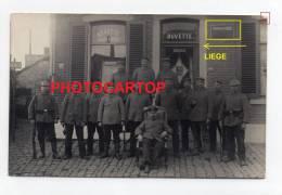 LAMBERT-Poste De Garde Du Chemin De Fer Nr 2-BUVETTE-TABAC-LIEGE-LÜTTICH-CARTE PHOTO Allemande-GUERRE 14-18-1WK-BELGIQUE - Liege